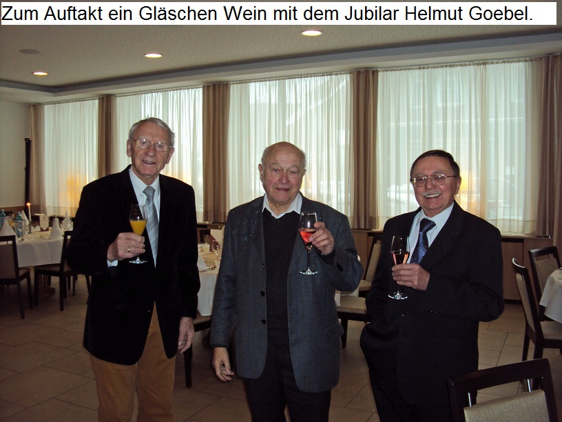 Helmut Goebel feiert seinen 90. Geburtstag